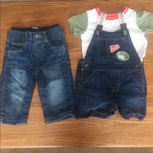 Other - Jeans and overall set 9-12 months